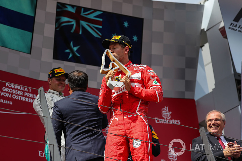Podyum: 2. Sebastian Vettel, Ferrari