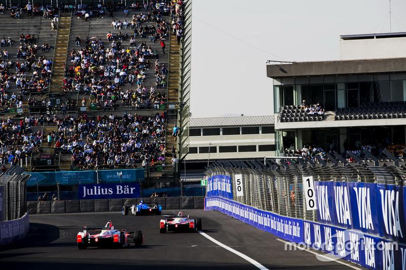 Felix Rosenqvist, Mahindra Racing and Nick Heidfeld, Mahindra Racing