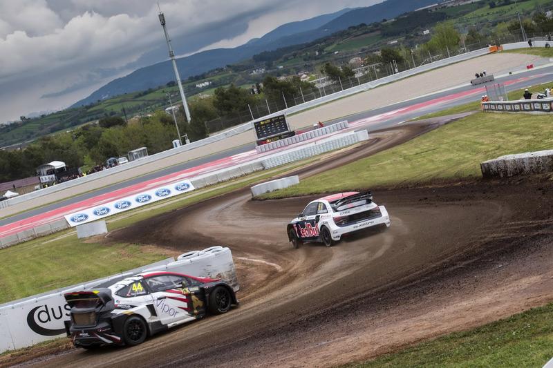 Toomas Heikkinen, EKS, Audi S1 EKS RX Quattro, Timo Scheider, MJP Racing Team Austria, Ford Fiesta ST