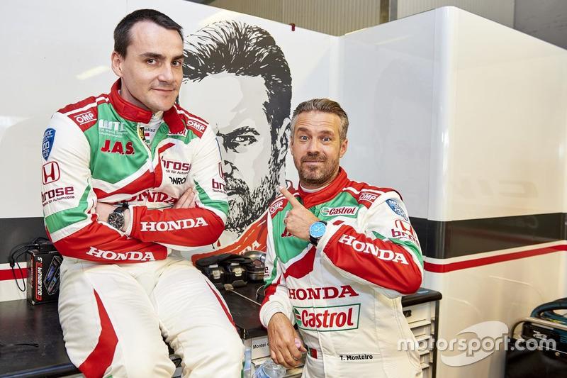 Norbert Michelisz, Honda Racing Team JAS, Honda Civic WTCC; Tiago Monteiro, Honda Racing Team JAS, H