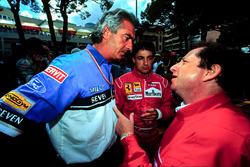 Flavio Briatore, Benetton; Jean Todt, Ferrari; Jean Alesi, Ferrari