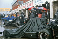 Covered Shadow DN1 Fords of Jackie Oliver, George Follmer in the pits