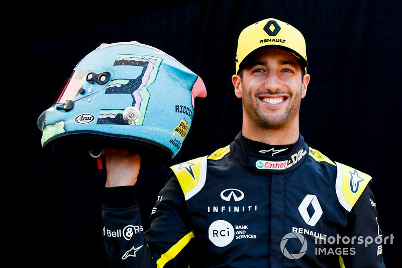 Daniel Ricciardo, Renault F1 Team ve kaskı