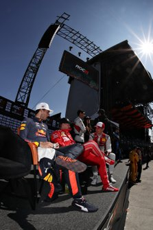 Pierre Gasly, Sebastian Vettel, Loic Duval