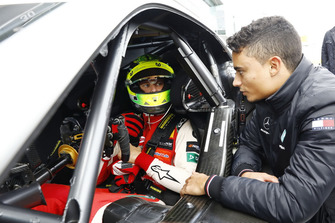 Mick Schumacher in the Mercedes-AMG C63 DTM with Pascal Wehrlein