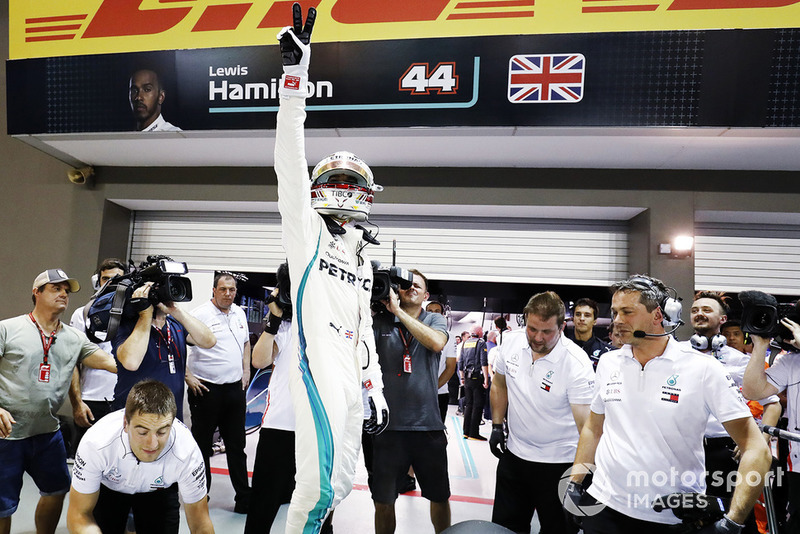 Il poleman Lewis Hamilton, Mercedes AMG F1 W09