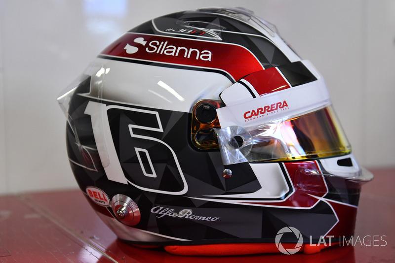 Helmet of Charles Leclerc, Sauber F1 Team