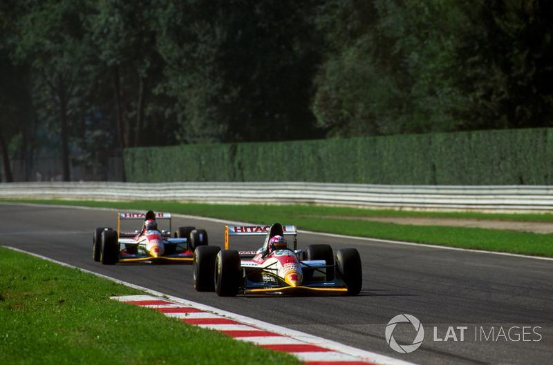 Pedro Lamy, Lotus Cosworth 107B ve takım arkadaşı Johnny Herbert