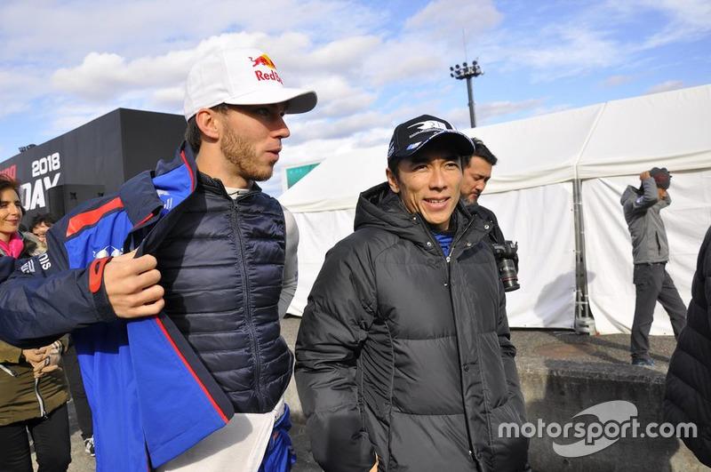 Pierre Gasly dan Takuma Sato