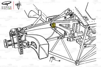 Ferrari 312B3, nuova sospensione anteriore, GP del Belgio