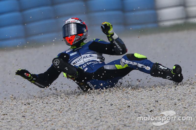 Hector Barbera, Avintia Racing crash