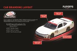 NASCAR XFINITY car branding layout