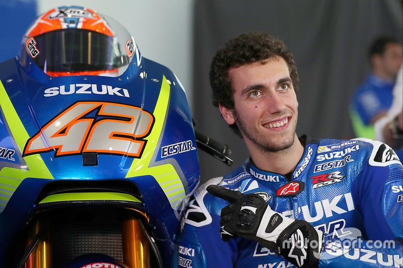 Alex Rins con la Suzuki MotoGP 2017