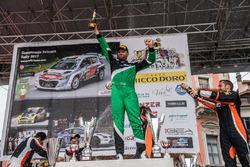 Ivan Ballinari auf podium, Rally Ronde del Ticino