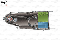 Ferrari 2014 gearbox (used by Sauber too) blue box depics location of MGUK and green the turbine