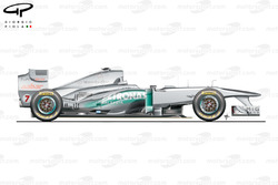 Mercedes W02 side view, Spanish GP