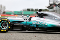 Mercedes AMG F1 W08 Hybrid, la parte centrale della vettura