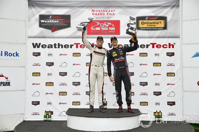 GTD Podio: ganador carrera Patrick Lindsey, Jörg Bergmeister, Park Place Motorsports