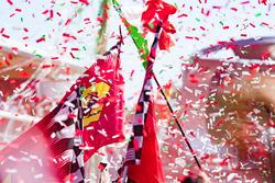 Aspectos de la celebración en el podio