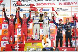 Podium GT500: #64 Nakajima Racing Honda NSX Concept GT: Bertrand Baguette, Kosuke Matsuura, #23 Nismo Nissan GT-R Nismo GT3: Tsugio Matsuda, Ronnie Quintarelli, #100 Team Kunimitsu Honda NSX Concept GT: Naoki Yamamoto, Takuya Izawa