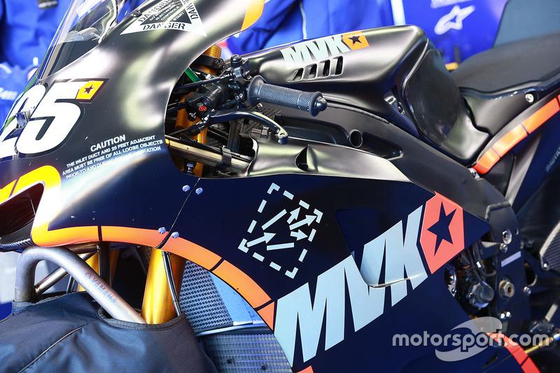 Maverick Viñales, Yamaha Factory Racing detalle de la moto