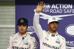 Polesitter: Lewis Hamilton, Mercedes AMG F1, second place Nico Rosberg, Mercedes AMG F1