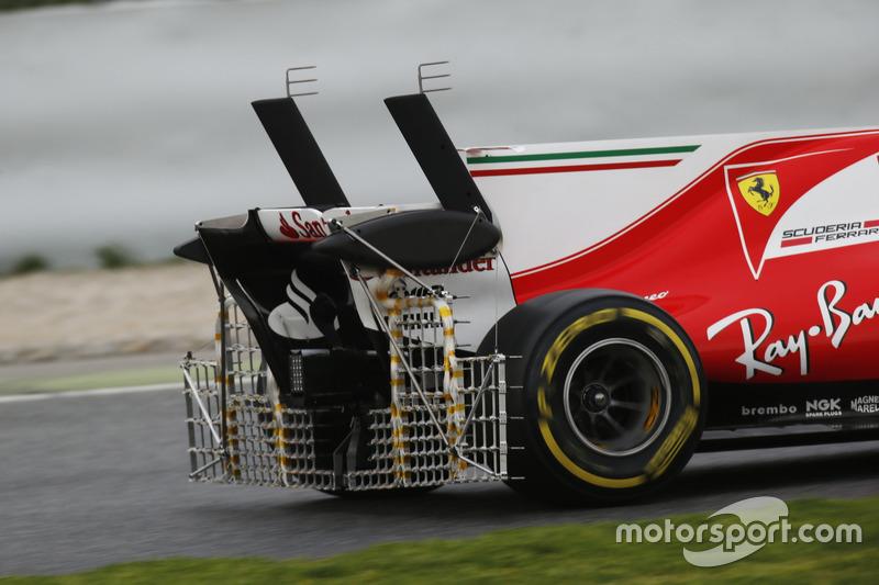 Sensores en la parte trasera del Ferrari SF70H de Kimi Raikkonen