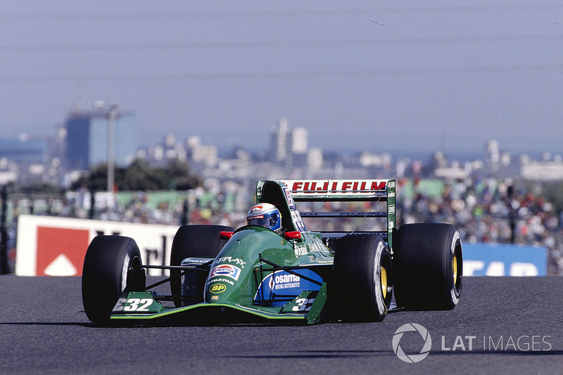 Zanardi made a good impression in his early F1 drives with Jordan late in 1991.