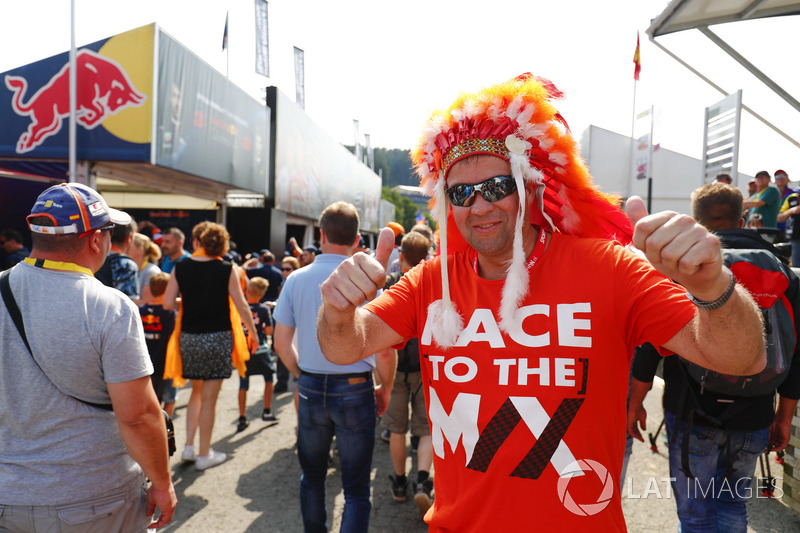 A fan of Max Verstappen, Red Bull