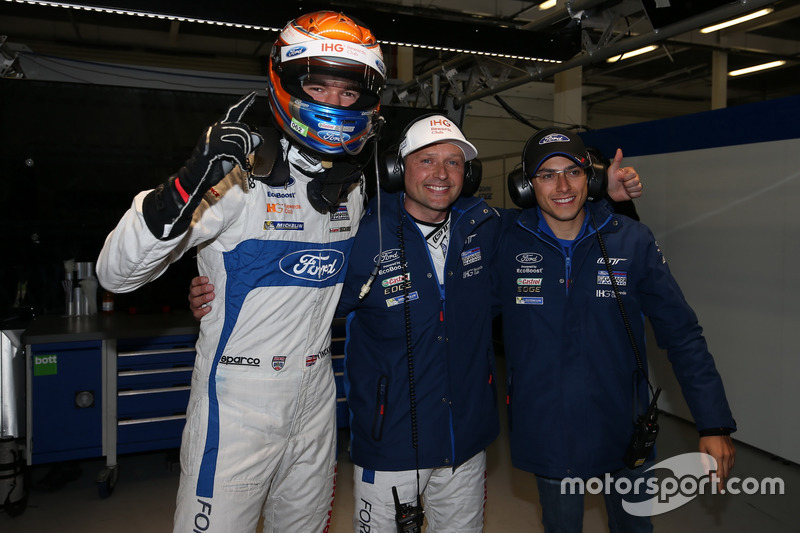 Pole position GTE-Pro for #67 Ford Chip Ganassi Racing Ford GT: Harry Tincknell, Andy Priaulx,  Pipo Derani