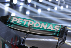 Mercedes AMG F1 W09 rear wing detail