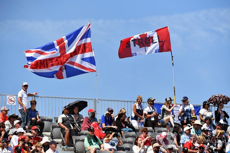 Union flag and Canadian flag