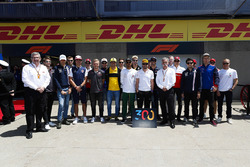 Fernando Alonso, McLaren, gathers ahead of his 300th Grand Prix with Ross Brawn, Managing Director o