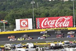Daniel Suarez, Joe Gibbs Racing, Toyota Camry ARRIS and Erik Jones, Joe Gibbs Racing, Toyota Camry Sport Clips
