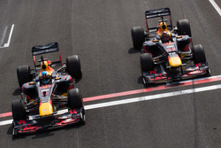 Daniel Ricciardo, Red Bull Racing RB7, and Max Verstappen, Red Bull Racing RB8