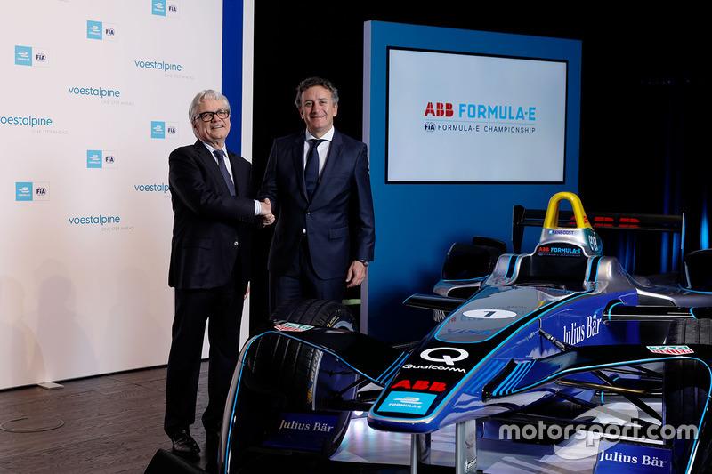 Wolfgang Eder, CEO della voestalpine AG, e Alejandro Agag, fondatore e CEO della Formula E