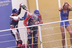 Podium: race winner Regis Laconi
