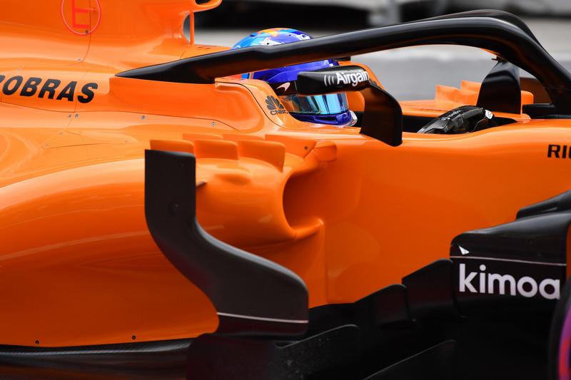 Первый вариант Halo на McLaren MCL33