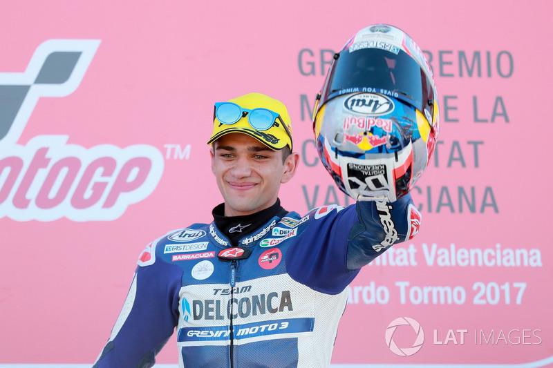 Podium: Race winner Jorge Martin, Del Conca Gresini Racing Moto3
