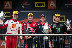 Podium: race winner Jamie Whincup, Triple Eight Race Engineering Holden, second place Scott McLaughl