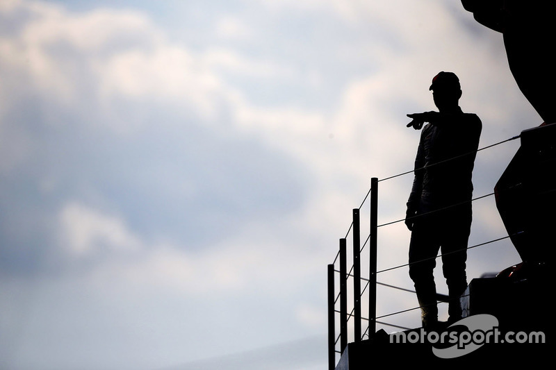 Lewis Hamilton, Mercedes AMG F1, celebrates on the podium after winning the race