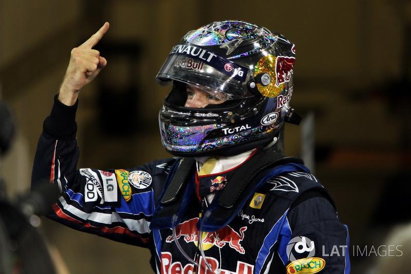 Winnaar en wereldkampioen Sebastian Vettel, Red Bull Racing
