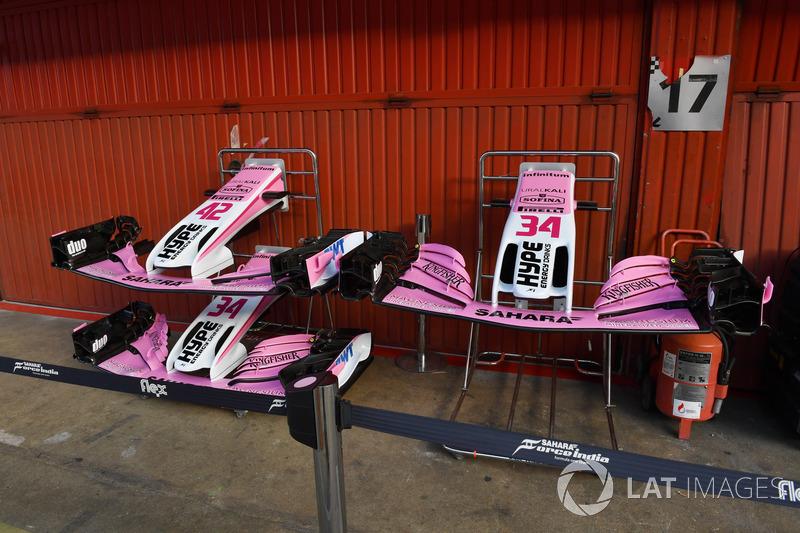 Force India VJM11 burun ve ön kanat