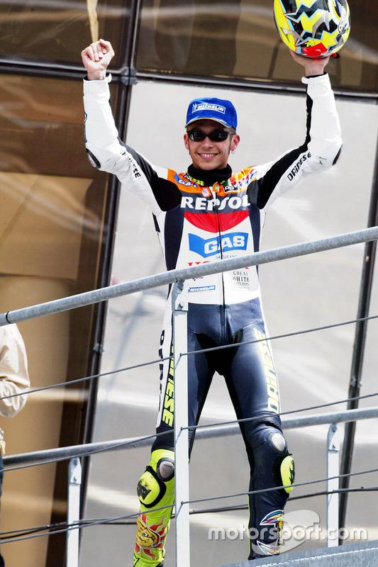 Podio: segundo lugar Valentino Rossi, Repsol Honda Team