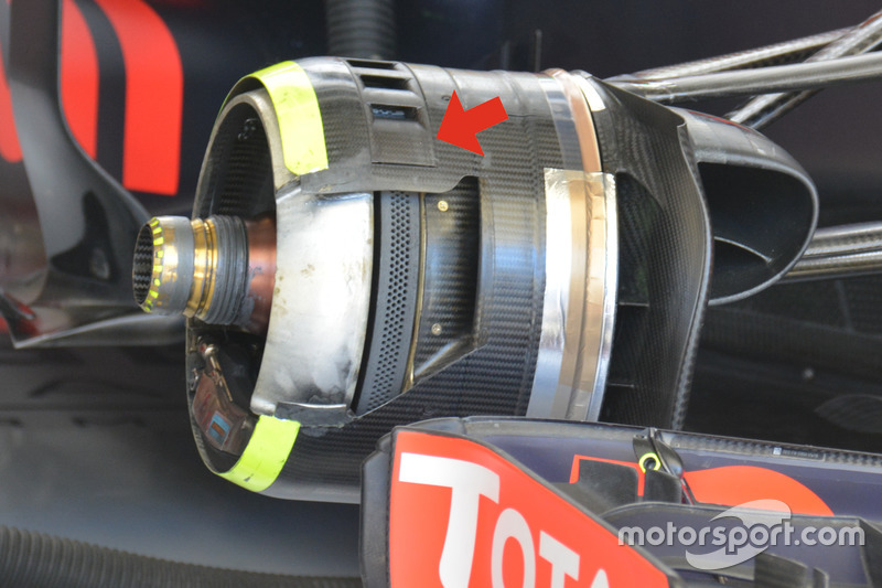 Red Bull Racing RB12, detalle del freno