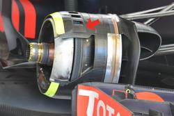 Red Bull Racing RB12, detalle del freno