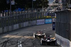 Edoardo Mortara, Venturi Formula E, leads Daniel Abt, Audi Sport ABT Schaeffler
