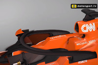 McLaren MCL32 with halo