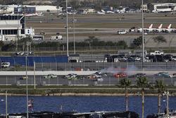 Kyle Larson, Chip Ganassi Racing, DC Solar Chevrolet Camaro, crash