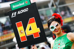 Grid Girl for Fernando Alonso, McLaren